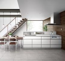 美しく、使いやすく、収納充実、高品位ホーローのハイグレードキッチン タカラスタンダード レミュー