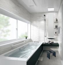 美しく耐久性の高いアクリル人造大理石浴槽、高機能ながら価格を抑えたミドルクラス タカラスタンダード レラージュ