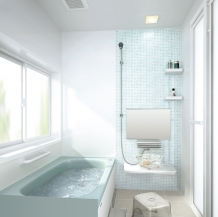高品質ステンレス浴槽のベーシッククラス、コンパクト空間にも対応できるシステムバス タカラスタンダード エメロード